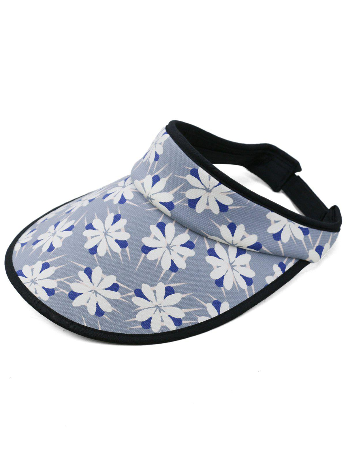 Hot Pretty Floral Printed Open Top Sunscreen Hat