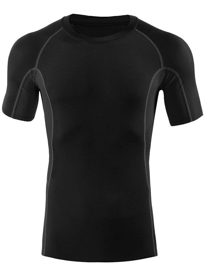 Hot Fitted Gym Raglan Sleeve Panel T-shirt