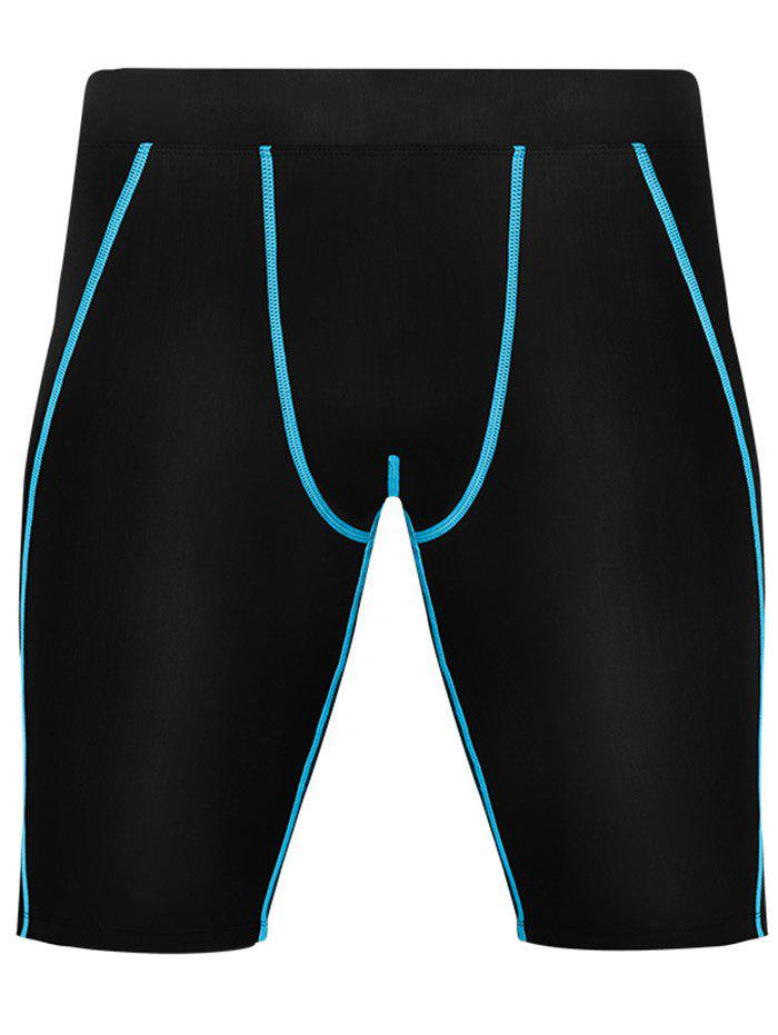 Fancy Stretchy Quick Dry Fitted Fitness Jammer Shorts