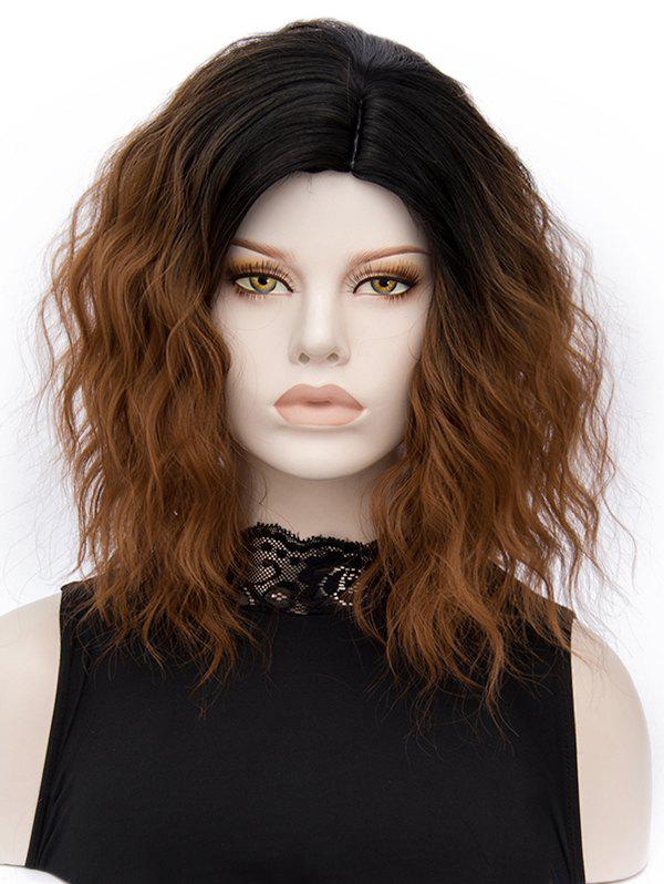 Store Medium Ombre Natural Wavy Heat Resistant Synthetic Wig