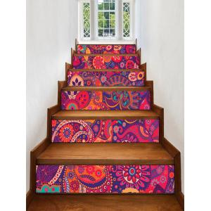 Bohemian Printed Decorative Stair Decals -