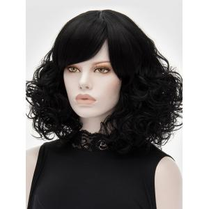 Medium Side Bang Curly Heat Resistant Synthetic Wig -