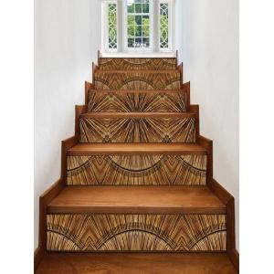 Wooden Print Decorative Stair Stickers -