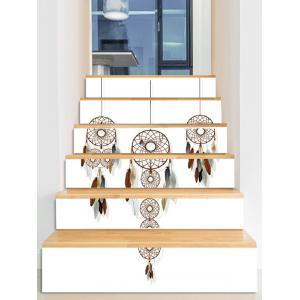 Dream Catcher Feather Print Decorative Stair Stickers -