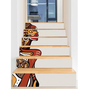 African Woman Print Decorative Stair Stickers -