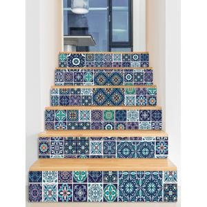 Geometric Print Decorative Stair Stickers -