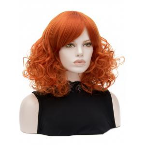 Medium Side Bang Party Curly Synthetic Wig -