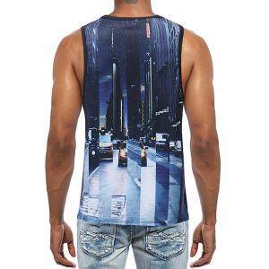 Casual 3D Letter Print Streetscape Tank Top -