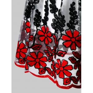 Vintage Embroidered Fit and Flare Dress -