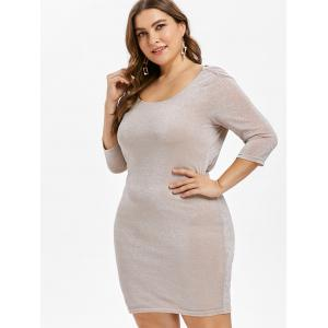 Plus Size Sparkly Cowl Back Bodycon Dress -