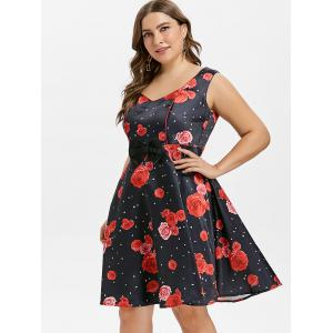 Robe Rose Bowknot grande taille -