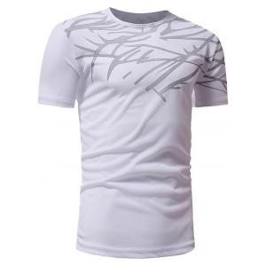 Top Print Short Sleeve Breathable Athletic T-shirt -