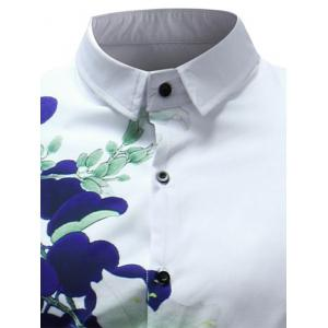 Floral Print Short Sleeve Casual Shirt -