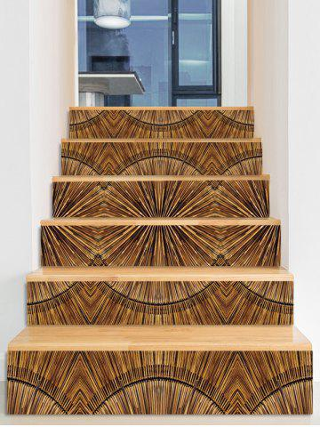 Store Wooden Print Decorative Stair Stickers