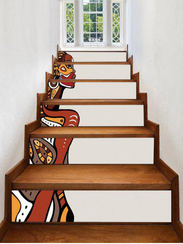 Cheap African Woman Print Decorative Stair Stickers