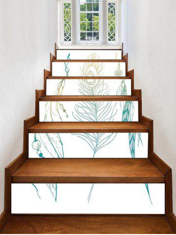 Unique Feather Print Decorative Stair Stickers