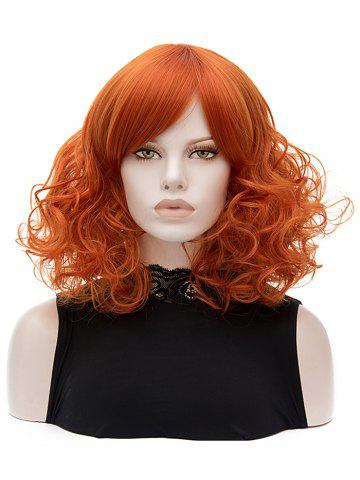 Discount Medium Side Bang Party Curly Synthetic Wig