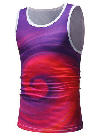 Affordable Colorful Swirl Printed Tank Top