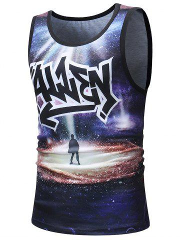 Outfit Boy's Shadow Under the Stars Printed Tank Top
