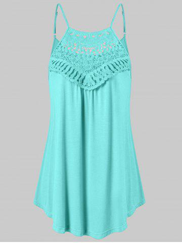 Fashion Lace Insert Trapeze Tank Top