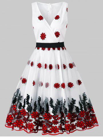 Shops Vintage Embroidered Fit and Flare Dress