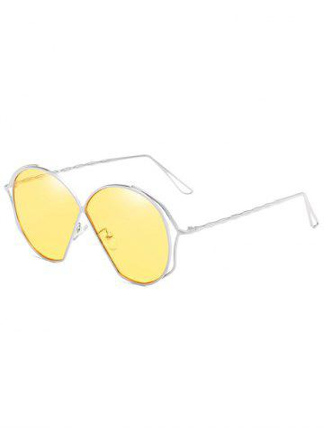 Latest Hollow Out Frame Irregular Flat Lens Novelty Sunglasses