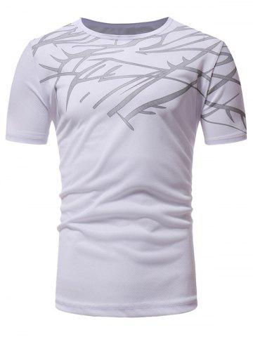 Outfits Top Print Short Sleeve Breathable Athletic T-shirt