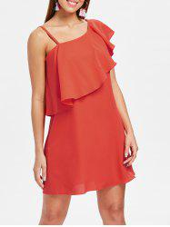 Skew Neck Shift Dress -