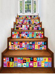Letter Printed Decorative Stair Decals -