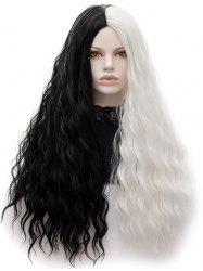 Long Center Parting Natural Wavy Colormix Synthetic Wig -