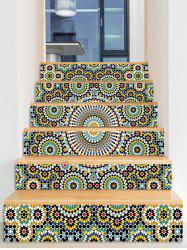 Ethnic Printed Decorative Stair Decals -