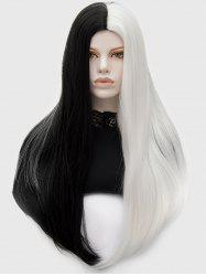 Long Center Parting Ombre Straight Synthetic Wig -