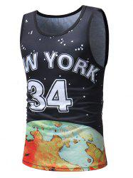 Casual Polka Dot Number Letter Print Tank Top -
