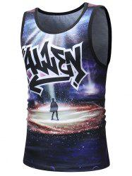 Boy's Shadow Under the Stars Printed Tank Top -