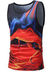 Flame Pterosaur Printed Tank Top -