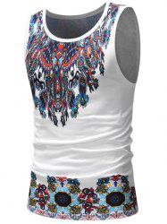 Casual Tribal Print Tank Top -