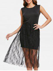 Tank Dress and Lace Skirt -