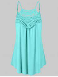 Lace Insert Trapeze Tank Top -