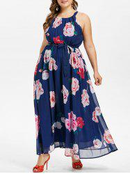 Plus Size Flower Flowy Dress -