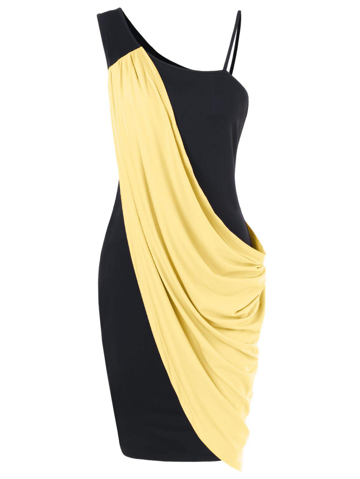 Fashion Overlay One Shoulder Mini Party Dress