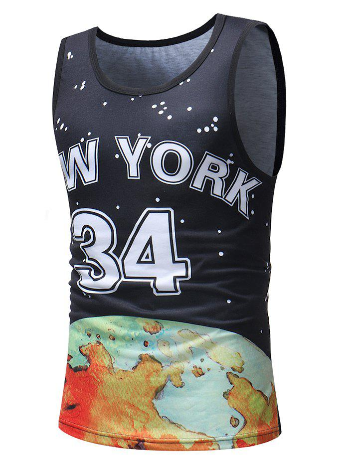 Trendy Casual Polka Dot Number Letter Print Tank Top