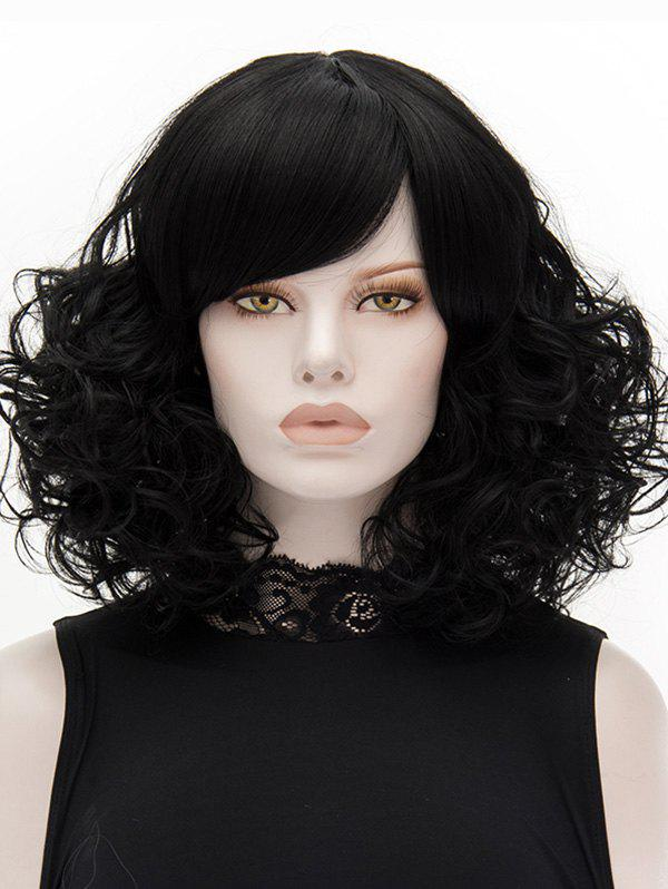 Shop Medium Side Bang Curly Heat Resistant Synthetic Wig