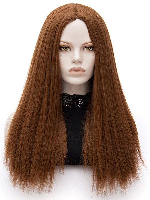 Affordable Long Center Parting Straight Party Synthetic Wig