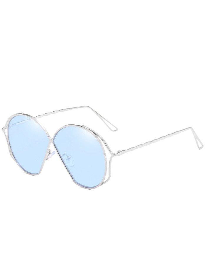 Hot Hollow Out Frame Irregular Flat Lens Novelty Sunglasses