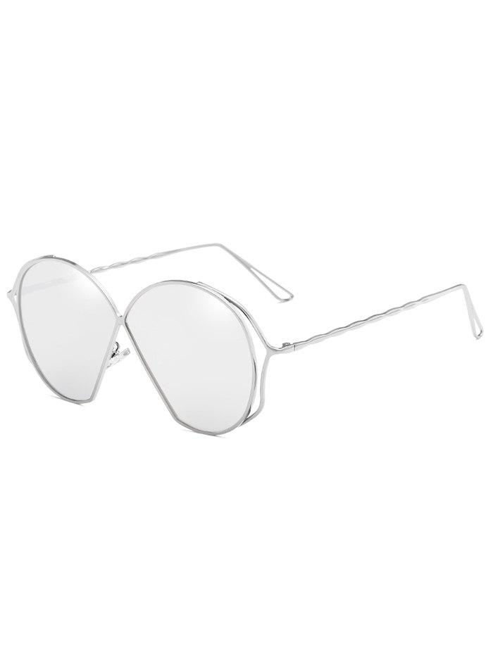 Buy Hollow Out Frame Irregular Flat Lens Novelty Sunglasses