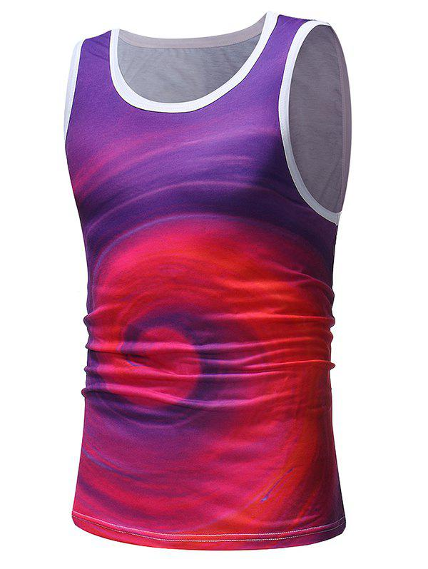 Shops Colorful Swirl Printed Tank Top