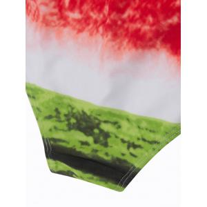 3D Watermelon Print Padded One Piece Swimsuit -