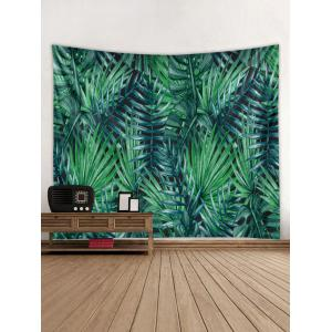 Wall Hanging Art Tropical Leaves Print Tapestry -
