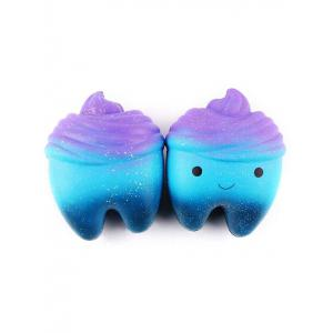Galaxy Tooth Cake Slow Rising PU Squeeze Squishy Toy -