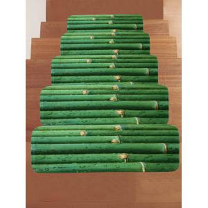 Dew Bamboos Printed Decorative Stair Treads Rugs -
